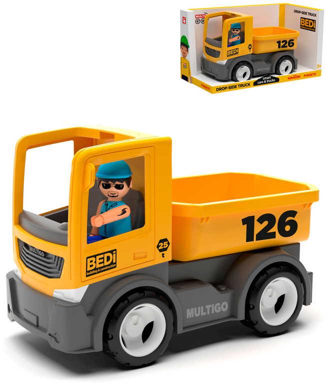 EFKO IGRÁČEK MultiGO Set auto nákladní valník 21cm + figurka řidič v krabici