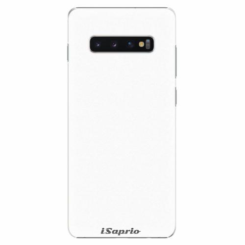 Plastový kryt iSaprio - 4Pure - bílý - Samsung Galaxy S10+