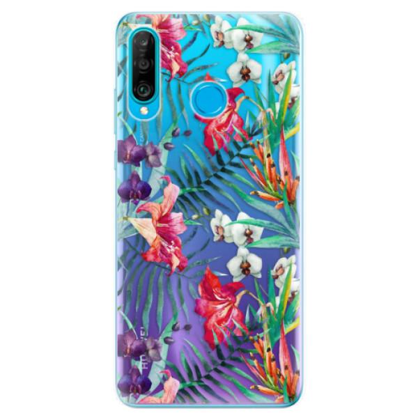 Odolné silikonové pouzdro iSaprio - Flower Pattern 03 - Huawei P30 Lite