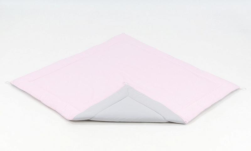 Podložka do stanu pro děti teepee, týpí - šedá/světle růžová