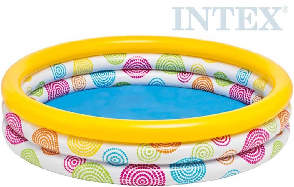 INTEX Bazén kulatý s ornamenty nafukovací 114x25cm 59419