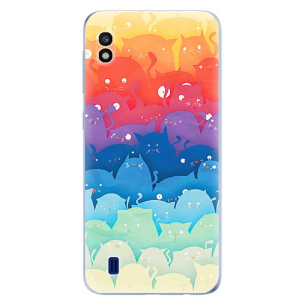 Odolné silikonové pouzdro iSaprio - Cats World - Samsung Galaxy A10