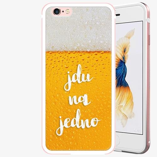 Plastový kryt iSaprio - Jdu na jedno - iPhone 6 Plus/6S Plus - Rose Gold