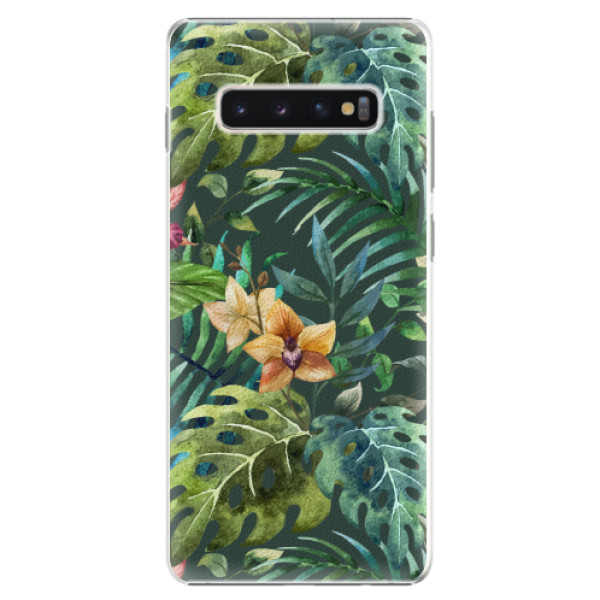 Plastové pouzdro iSaprio - Tropical Green 02 - Samsung Galaxy S10+