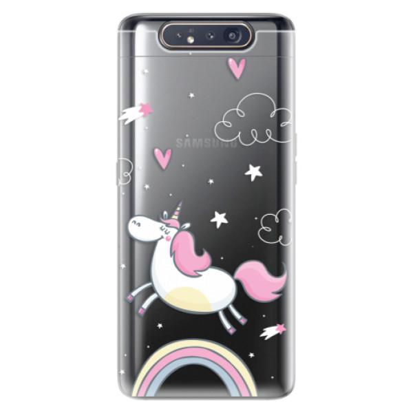 Odolné silikonové pouzdro iSaprio - Unicorn 01 - Samsung Galaxy A80