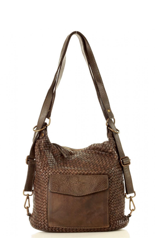 Přírodní kožená taška model 136602 Mazzini - UNI velikost
