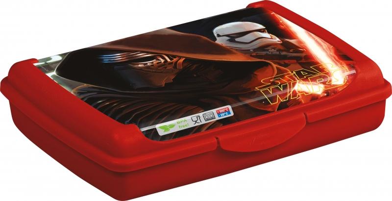 Keeeper Svačinkový box Star Wars 0,5 l - červený