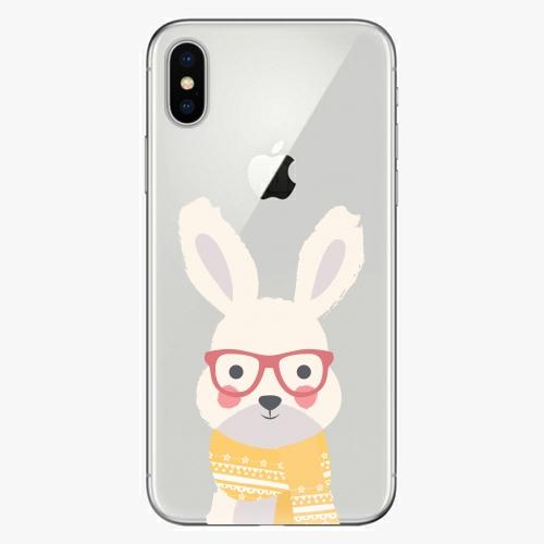 Plastový kryt iSaprio - Smart Rabbit - iPhone X