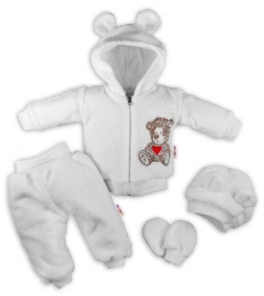 baby-nellys-5-ti-dilny-chlupackovy-komplet-teddy-vel-74-bily-74-6-9m