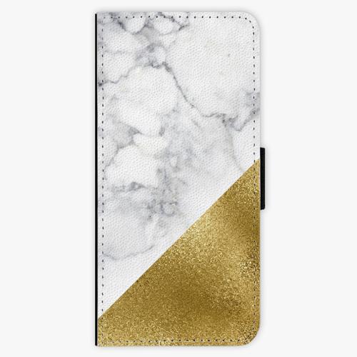 Flipové pouzdro iSaprio - Gold and WH Marble - Samsung Galaxy S8 Plus
