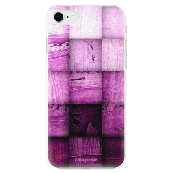 Plastové pouzdro iSaprio - Purple Squares - iPhone SE 2020