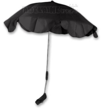 Slunečník, deštník univerzální do kočárku - černý