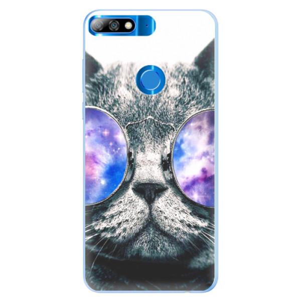 Silikonové pouzdro iSaprio - Galaxy Cat - Huawei Y7 Prime 2018