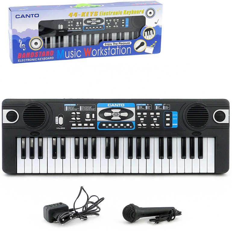 Piáno dětské 44 kláves elektronický klavír keyboard na baterie