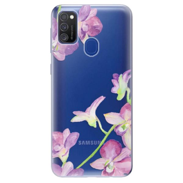 Odolné silikonové pouzdro iSaprio - Purple Orchid - Samsung Galaxy M21