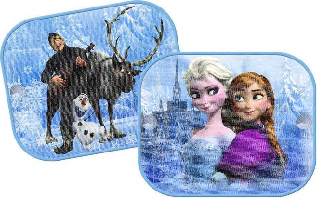 Stínítka do auta sada 2 clony na boční sklo Frozen (Ledové Království)