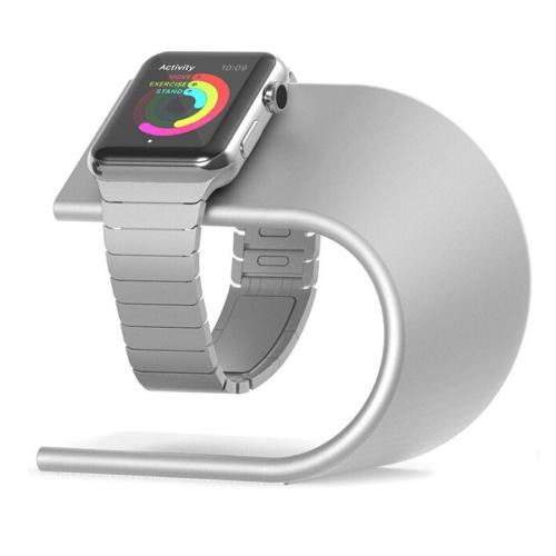 Hliníkový nabíjecí stojánek Nomad pro Apple Watch 38mm / 42mm stříbrný