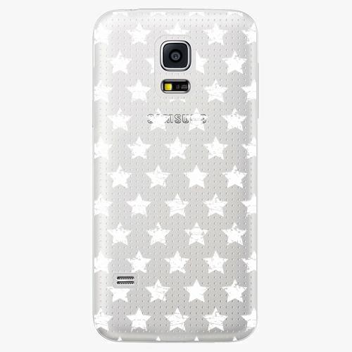 Plastový kryt iSaprio - Stars Pattern - white - Samsung Galaxy S5 Mini
