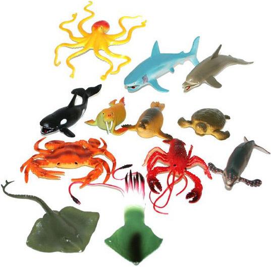 Zvířátko mořské 10-17cm guma 12 druhů