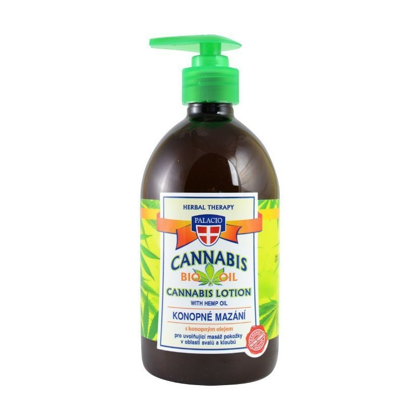 Cannabis Lotion konopné mazání s pumpičkou 500 ml