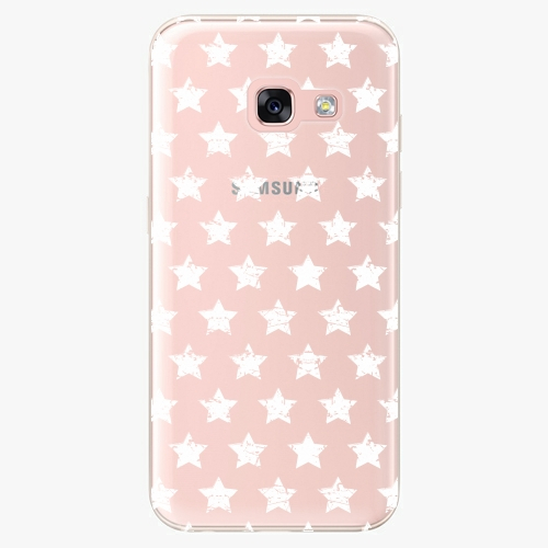 Plastový kryt iSaprio - Stars Pattern - white - Samsung Galaxy A3 2017