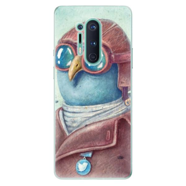 Odolné silikonové pouzdro iSaprio - Pilot twitter - OnePlus 8 Pro