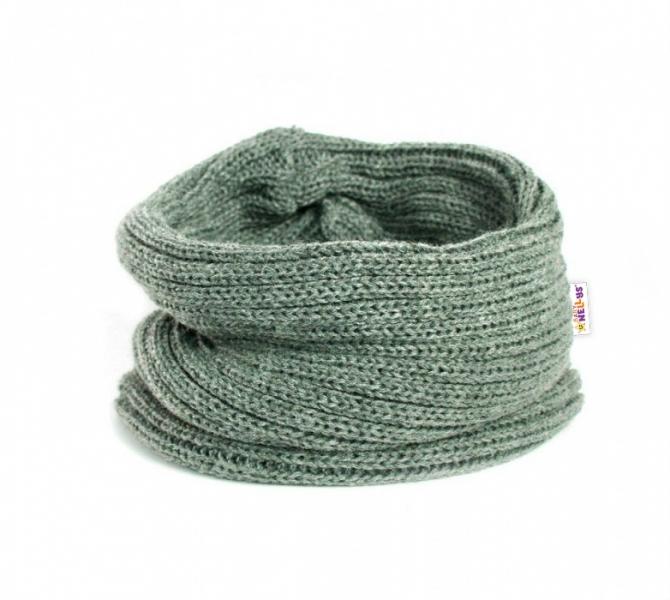 Pletený nákrčník/komínek Baby Nellys ® - šedý - 3-8let