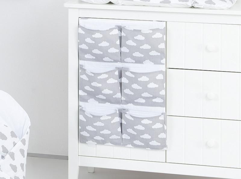 Kapsář 40 x 65 cm - Mráčky bílé na šedém