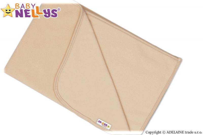 Deka/dečka polar Feel Baby Nellys ® - béžová/hnědá - 75 x 100 cm