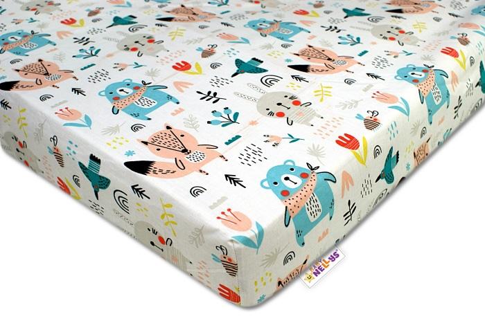 Baby Nellys Bavlněné prostěradlo 60x120 cm - Forest girl - 120x60