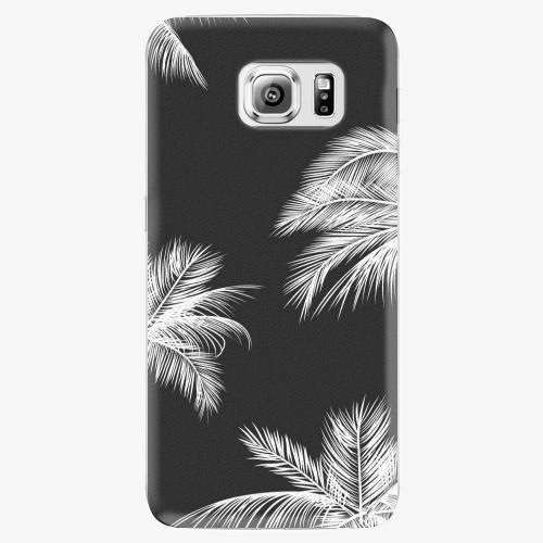 Plastový kryt iSaprio - White Palm - Samsung Galaxy S6 Edge