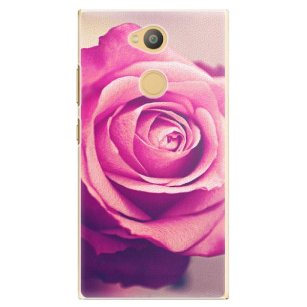 Plastové pouzdro iSaprio - Pink Rose - Sony Xperia L2