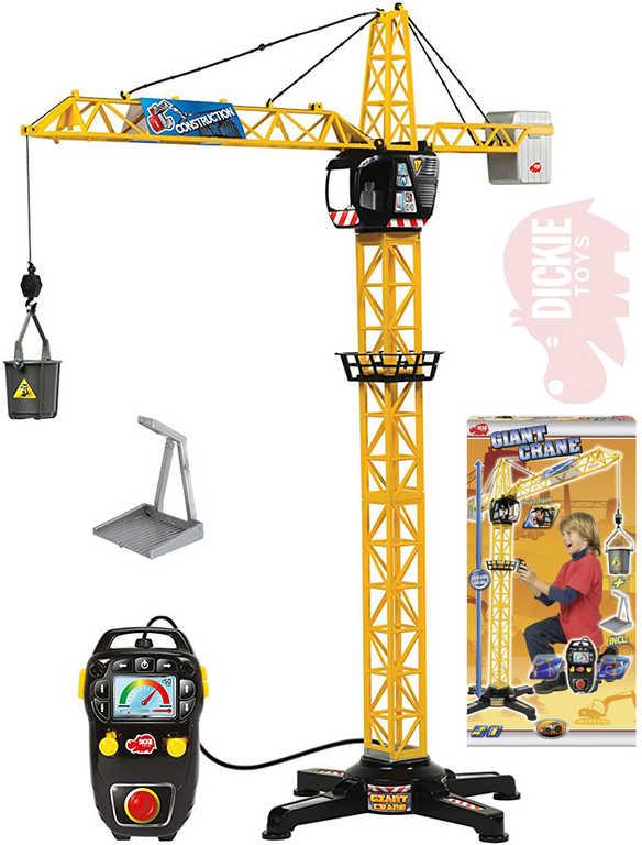 DICKIE Jeřáb Giant Crane 100cm funkční na baterie ovládání na kabel plast