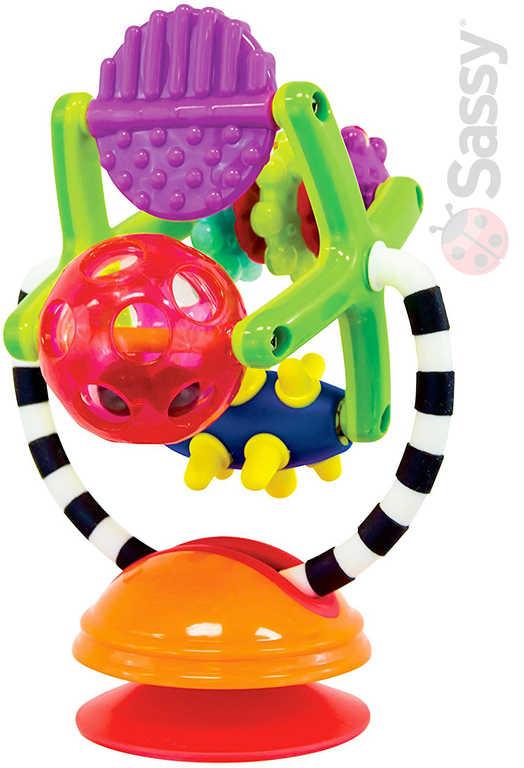 SASSY Baby mlýnek 21cm chrastící s přísavkou pro miminko