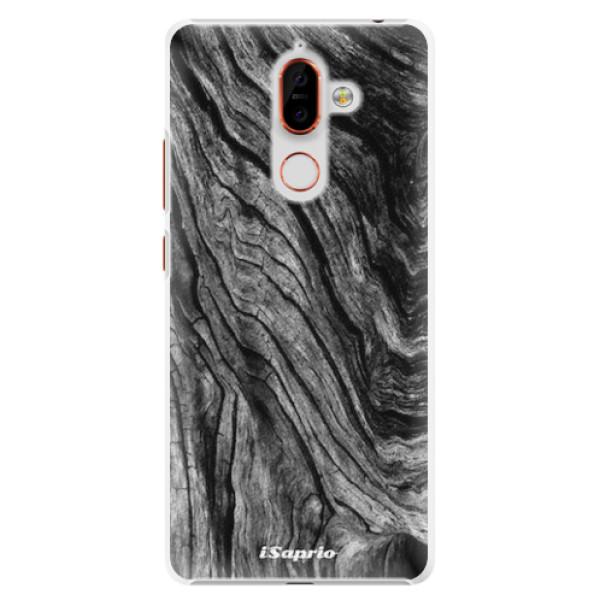 Plastové pouzdro iSaprio - Burned Wood - Nokia 7 Plus