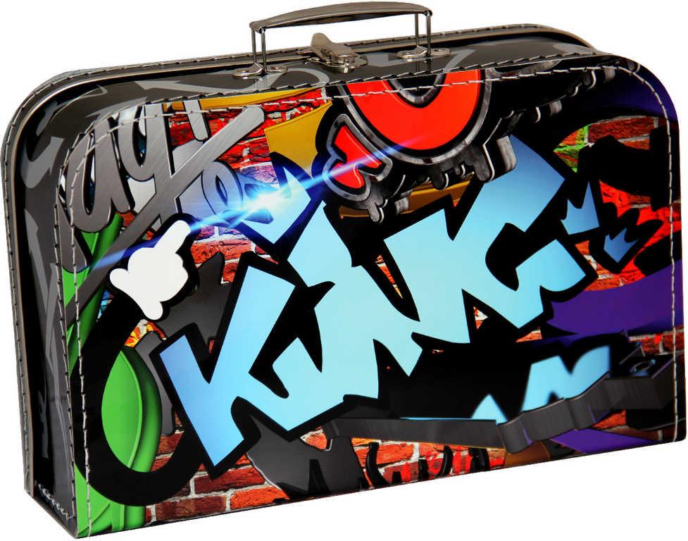 KAZETO kufr GRAFITY velký dětský kufřík 35x22cm