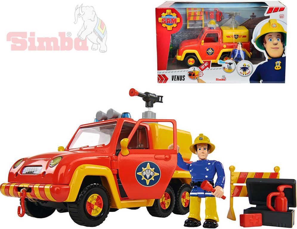 SIMBA Auto hasiči Venus 19cm Požárník Sam na baterie