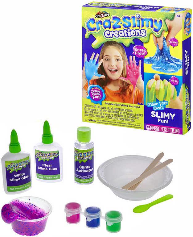 Kreativní set výroba neon slizu s glitry Cra-z-slimy s doplňky v krabičce
