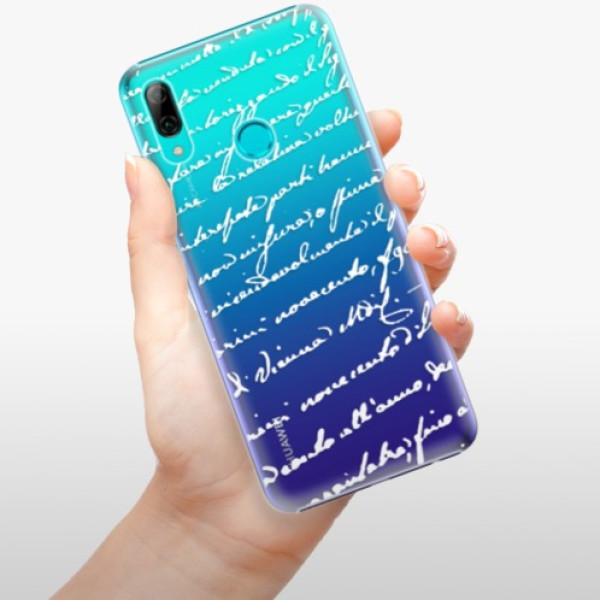Plastové pouzdro iSaprio - Handwriting 01 - white - Huawei P Smart 2019