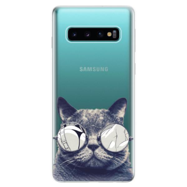 Odolné silikonové pouzdro iSaprio - Crazy Cat 01 - Samsung Galaxy S10
