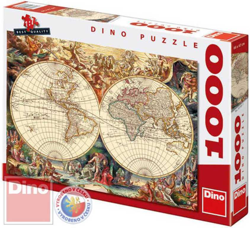 DINO Puzzle1000 dílků Mapa historická
