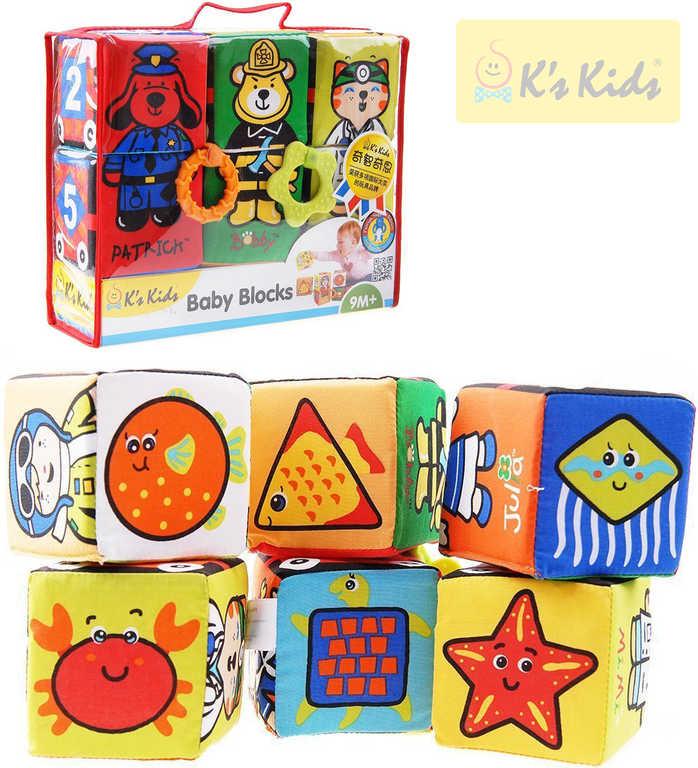K´S KIDS Kostky zábavné textilní 6 kusů