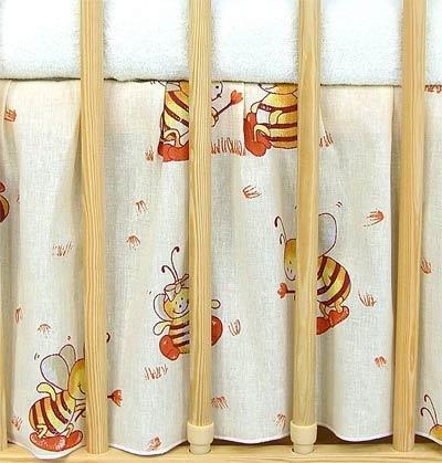 VÝPRODEJ Krásný volánek pod matraci - Včeličky - 120x60