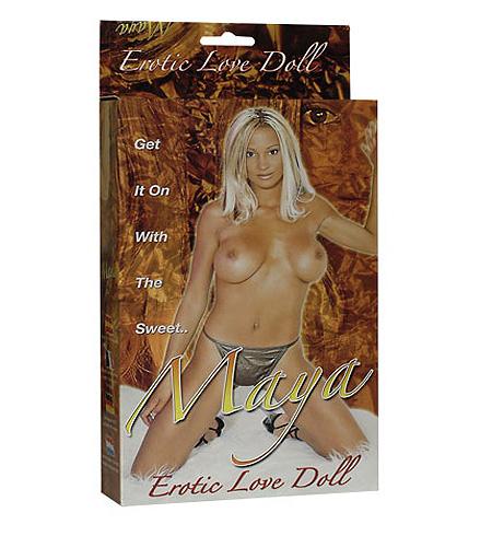 Blonďatá nafukovací panna Maya Erotic Love Doll