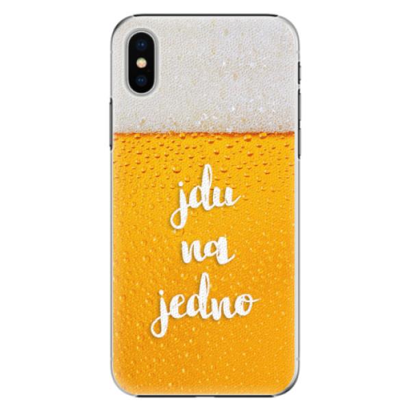Plastové pouzdro iSaprio - Jdu na jedno - iPhone X