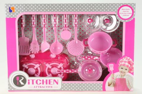 Nádobíčko růžové s vařičem
