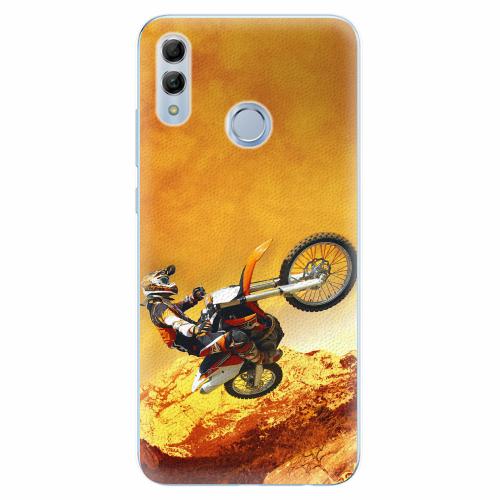 Silikonové pouzdro iSaprio - Motocross - Huawei Honor 10 Lite