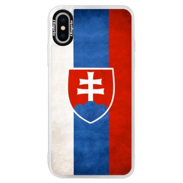 Neonové pouzdro Pink iSaprio - Slovakia Flag - iPhone X