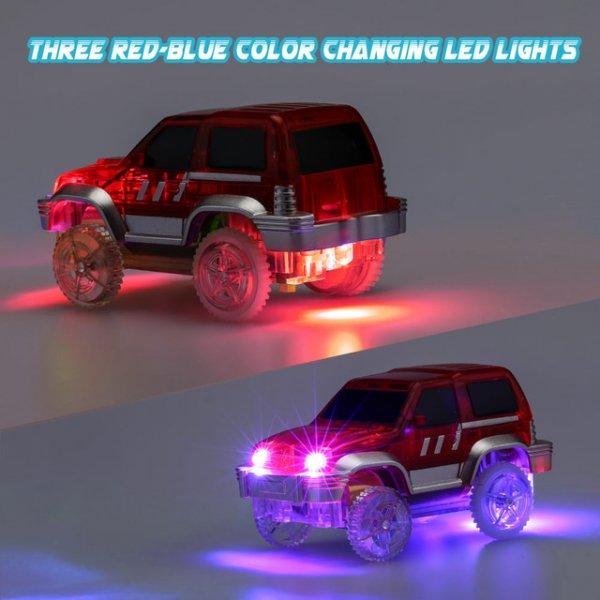 Svítící autodráha - 162 dílků