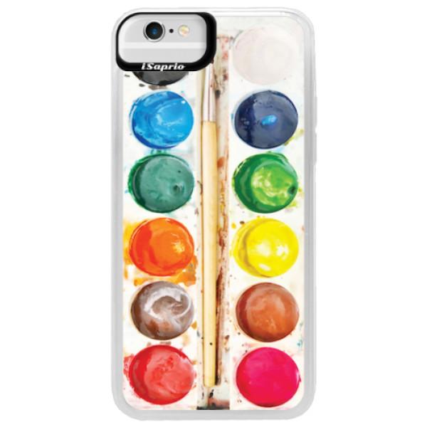 Neonové pouzdro Blue iSaprio - Watercolors - iPhone 6/6S